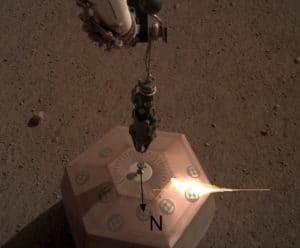 Le Nord géographique sur Mars